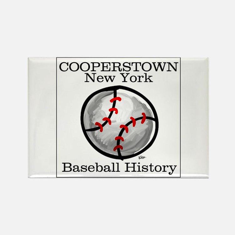 Cooperstown NY Baseball shopp Rectangle Magnet