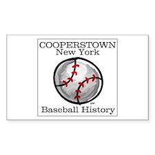 Cooperstown NY Baseball shopp Sticker (Rectangular