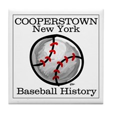 Cooperstown NY Baseball shopp Tile Coaster