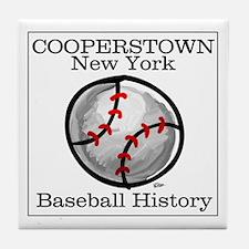 Cooperstown NY Baseball shopp Tile Coaster
