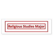 College Major Bumper Sticker