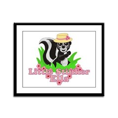 Little Stinker Ella Framed Panel Print