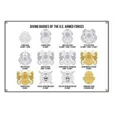 Diving Badges of the US Banner