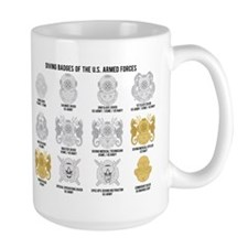 Diving Badges of the US Mug