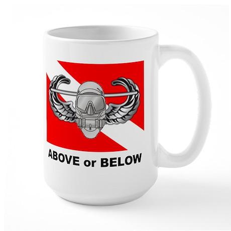 Above or Below Large Mug
