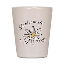 Bridesmaid Daisy Shot Glass