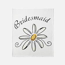 Bridesmaid Daisy Throw Blanket