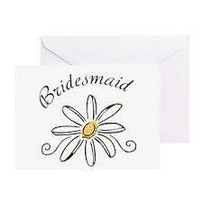 Bridesmaid Daisy Greeting Card