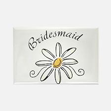 Bridesmaid Daisy Rectangle Magnet