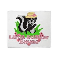 Little Stinker Emma Throw Blanket