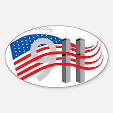 911 - 10th Anniversary Sticker (Oval)