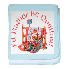 Rather Be Quilting baby blanket