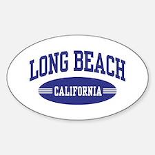 Long Beach California Sticker (Oval)