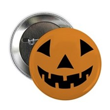 "Jack-o-lantern Pumpkin 2.25"" Button"