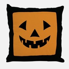 Jack-o-lantern Pumpkin Throw Pillow