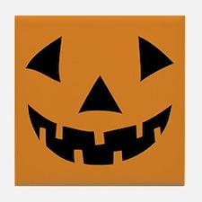 Jack-o-lantern Pumpkin Tile Coaster