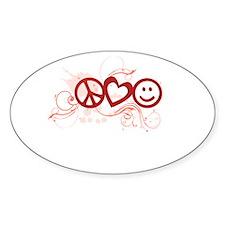 Peace Love Happy Face Splat Decal