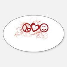 Peace Love Happy Face Splat Decal