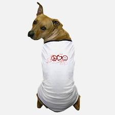 Peace Love Happy Face Splat Dog T-Shirt