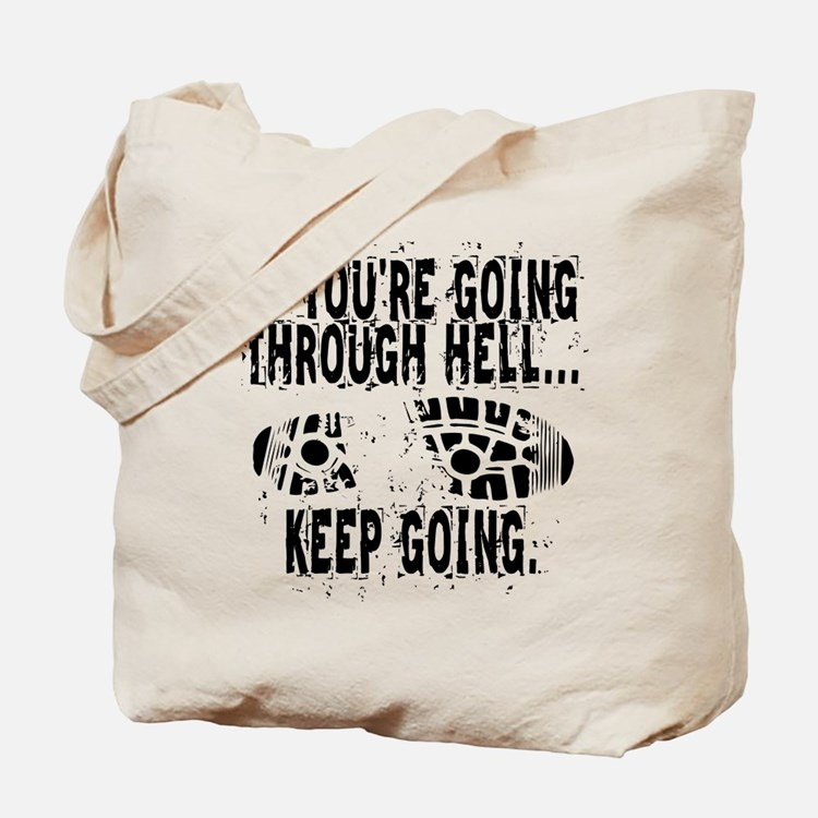 Going Through Hell - Runner Tote Bag