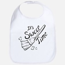 Black and White Sweep Time Bib