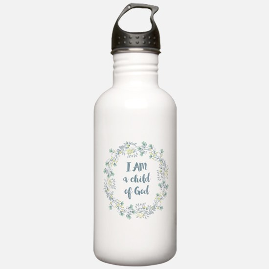 I AM a child of God Water Bottle