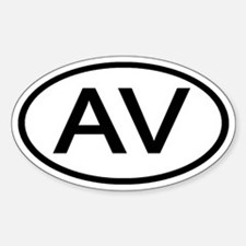 AV - Initial Oval Oval Decal