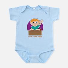 Little Boy at School Infant Bodysuit