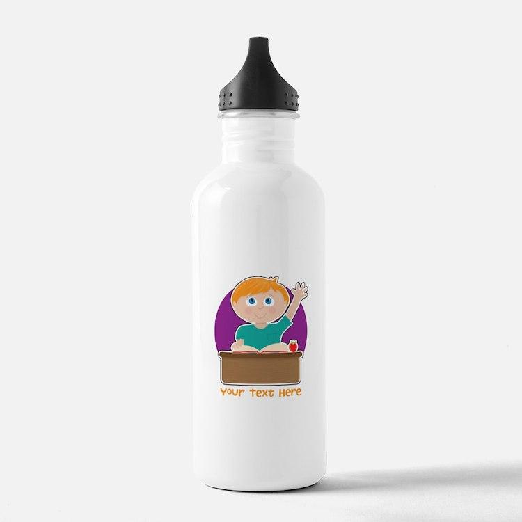 Little Boy at School Water Bottle