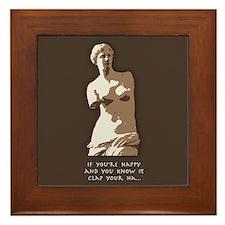 If You're Happy, Venus Framed Tile