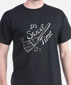 Black and White Sweep Time T-Shirt