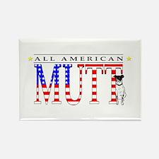 All American Mutt Rectangle Magnet