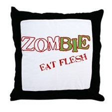 Zombie Eat flesh Throw Pillow