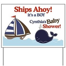 Ships Ahoy It's a Boy Yard Sign - Cynthia