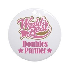 Doubles Tennis Partner Gift Ornament (Round)
