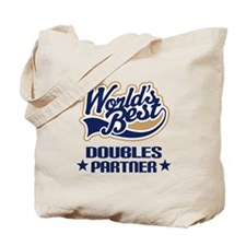 Doubles Tennis Partner Gift Tote Bag
