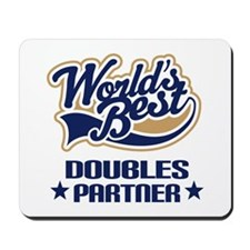 Doubles Tennis Partner Gift Mousepad
