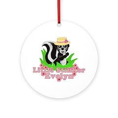 Little Stinker Evelyn Ornament (Round)