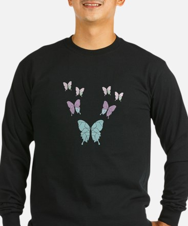 butterfly monochrome colors Long Sleeve T-Shirt