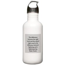 Mark Twain quote Water Bottle