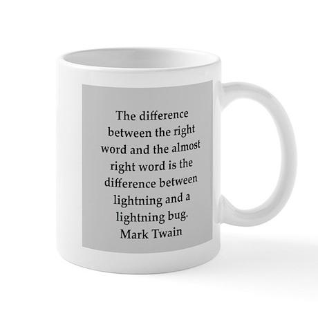 Mark Twain quote Mug