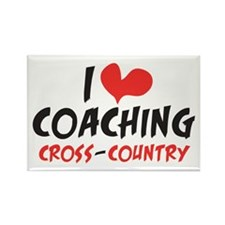 I heart Coaching Cross Country Rectangle Magnet