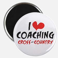 I heart Coaching Cross Country Magnet