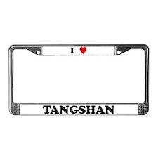 I Love Tangshan License Plate Frame