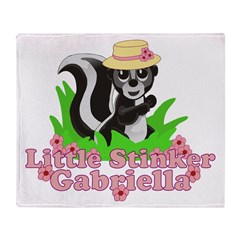 Little Stinker Gabriella Throw Blanket