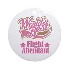 Flight Attendant Gift Ornament (Round)