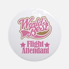 Flight Attendant Gift Ornament (Round)