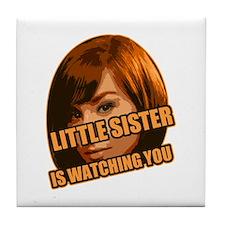 Little Sister Tile Coaster