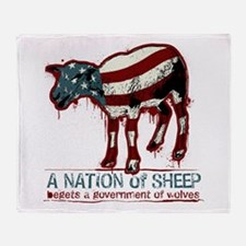 A Nation of Sheep Throw Blanket