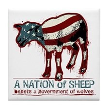 A Nation of Sheep Tile Coaster